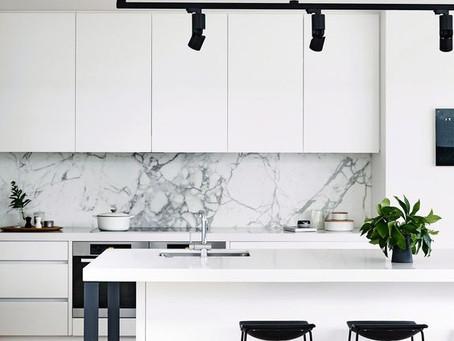 西海岸夢想中的白色廚房