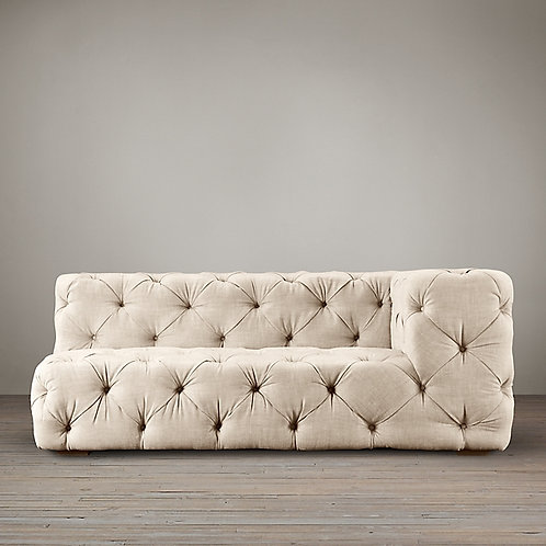 RESTORATION HARDWARE-SOHO TUFTED RIGHT-ARM SOFA