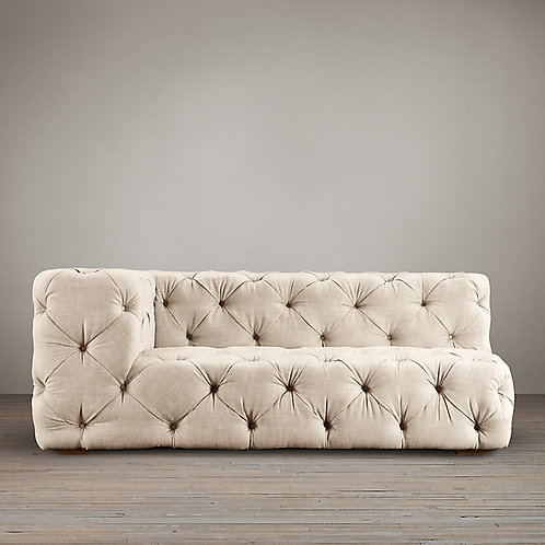 RESTORATION HARDWARE-SOHO TUFTED LEFT-ARM SOFA