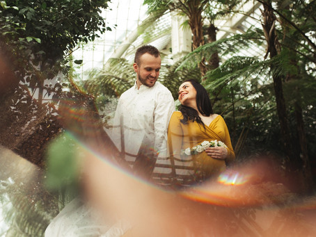 Kismama fotózás pálmák között - Jennifer és Attila
