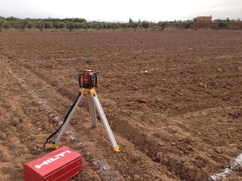 Niveau laser pour faire la topographie....