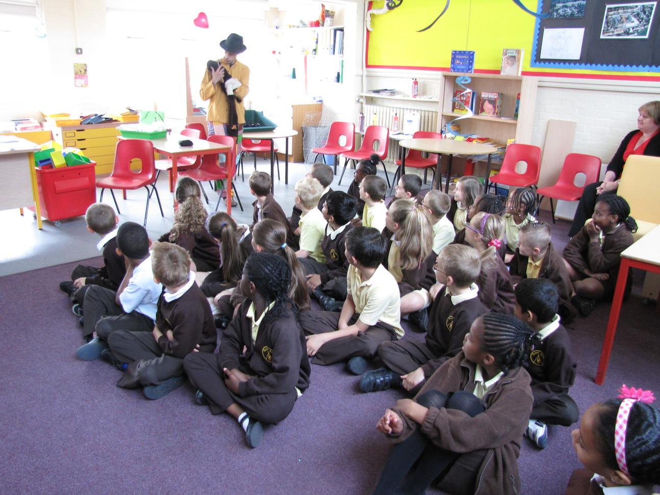 Jumelage avec des enfants d'une école de lonfres...