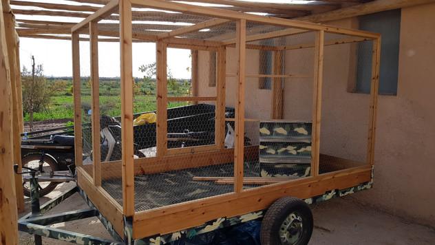 Construction de la roulotte à volaille...