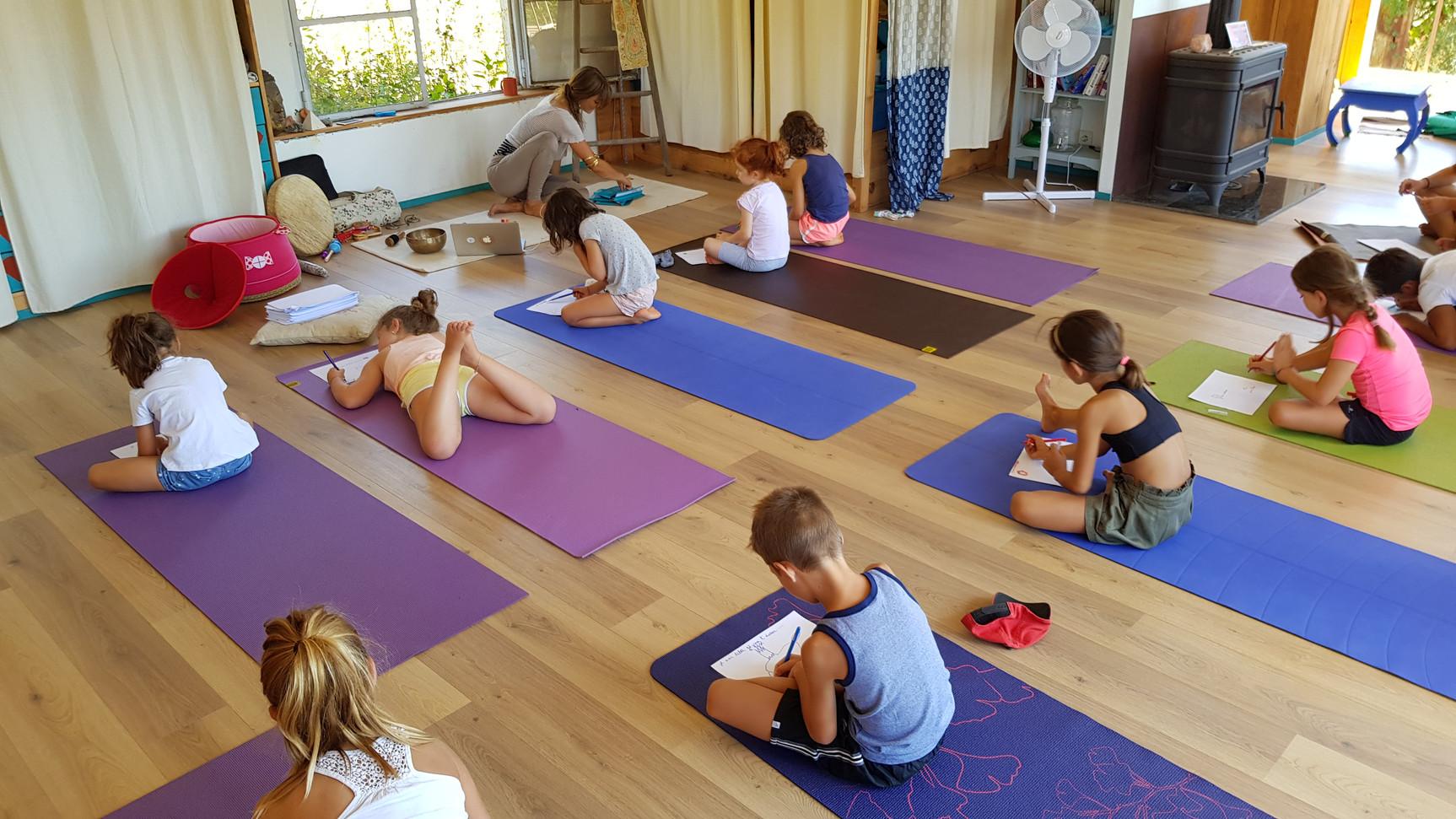 Poser en image l'éco de son voyage yoga.....