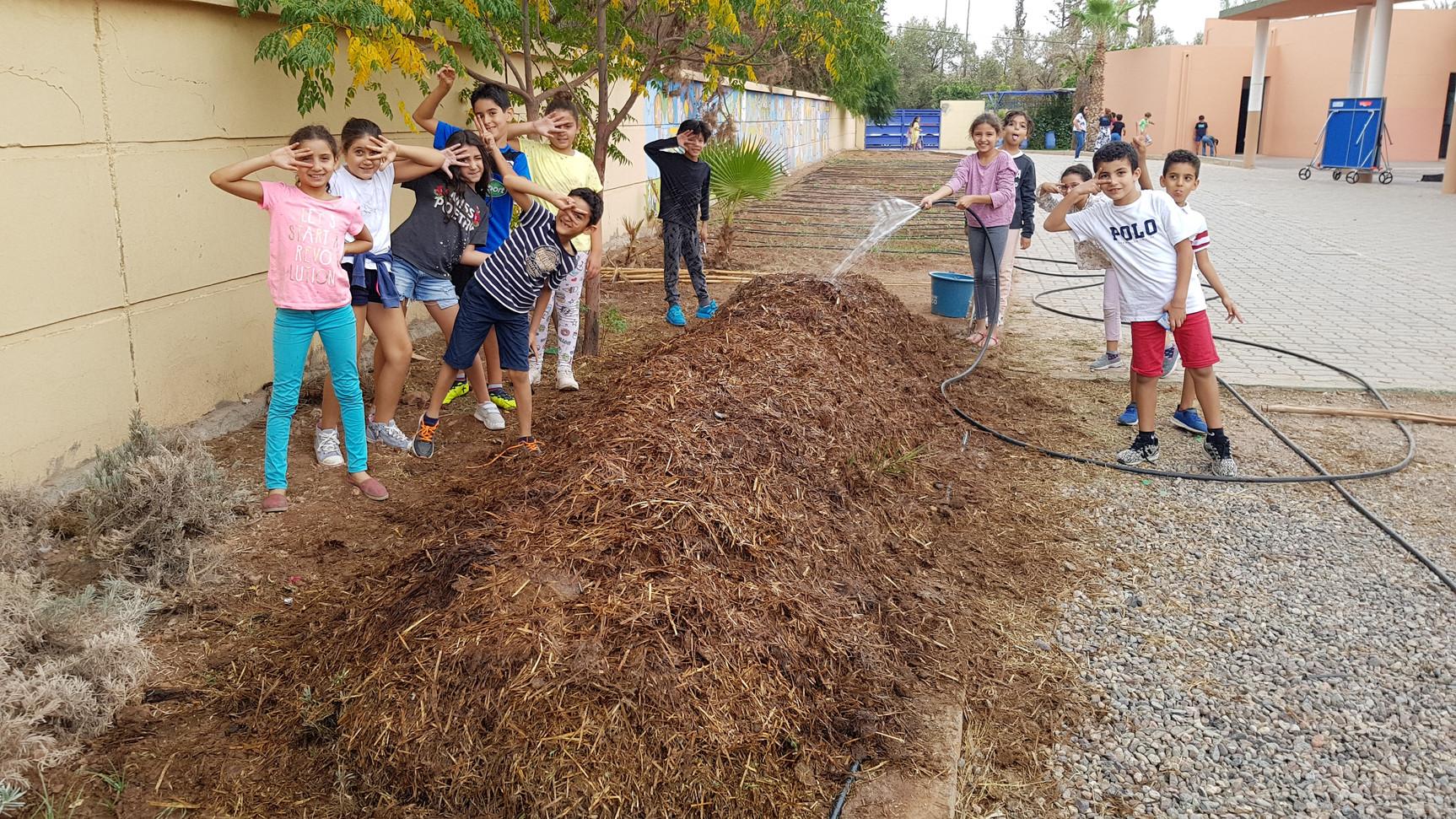 Initiation et mise en place de compost à l'école