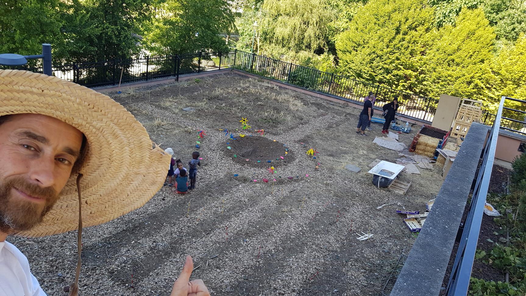 Installation du jardin educatif