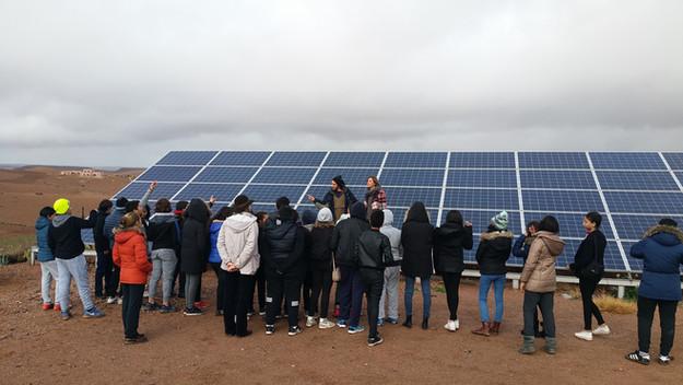 Visite de la station solaire