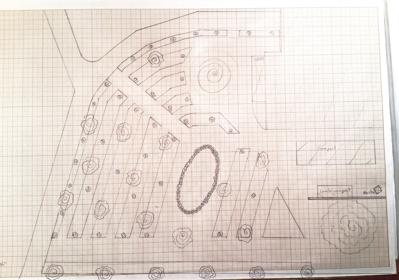 Jardin n°1 majorelle, plan base...