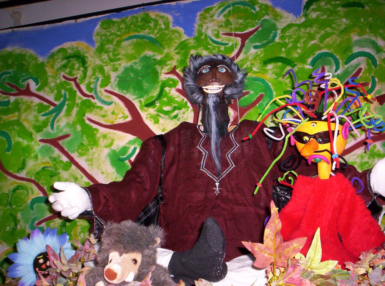 Les marionnettes pour sensibiliser au problèmes de l'écologie....Barnabé raconte....