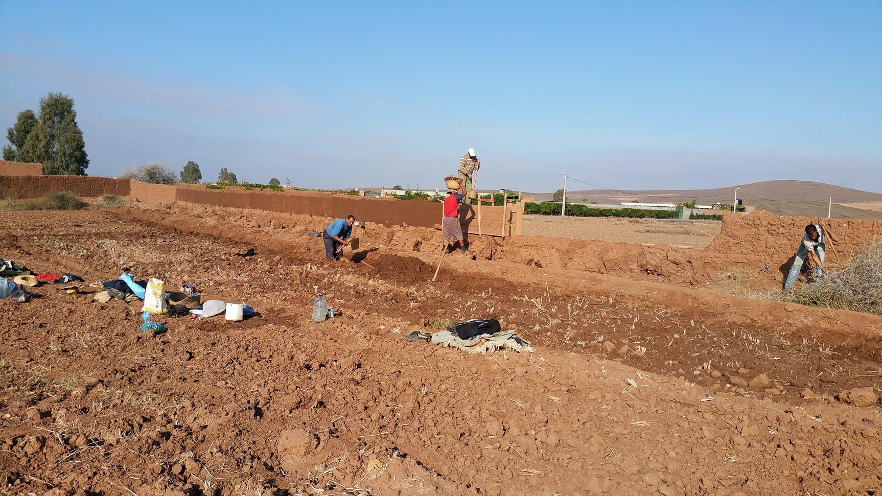 Construction pisé traditionnel...