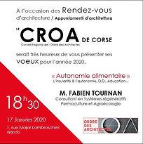Conférence fabien touran 17.01.2021 conseil regionale de l'ordre des architectes de Corse, regeneration vegetale, autonomie alimentaire