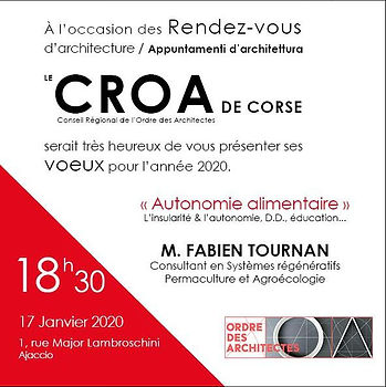 CROA de Corse, conférence sur l'autonomie alimentaire, l'éducatio, développement durable, transition écologique