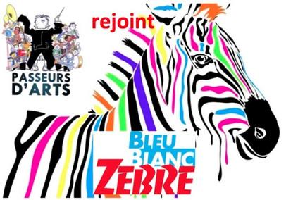 Passeurs d'Arts rejoint Bleu Blanc Zèbre, d'Alexandre Jardin.