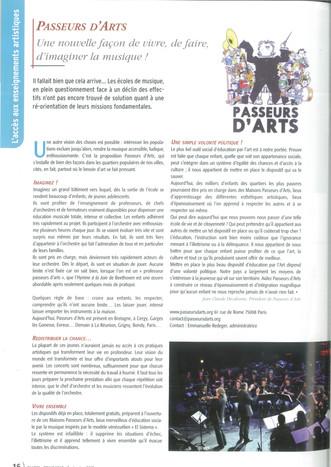 Un nouvel article sur Passeurs d'Arts : Journal de la FNAPEC