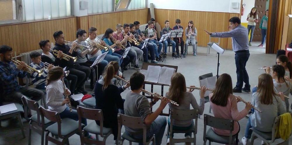 Répétition partielle vents, Raul Lubo en Serbie
