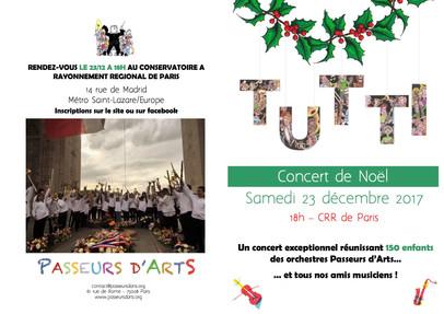Concert de Noël Tutti Passeurs d'Arts
