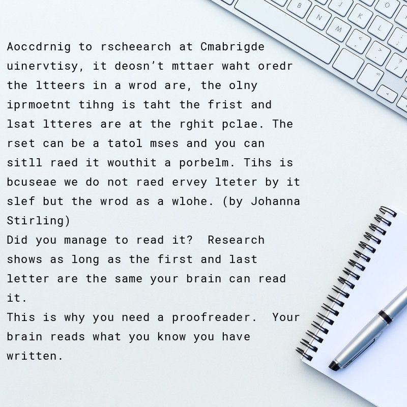 Why do I need a proofreader?