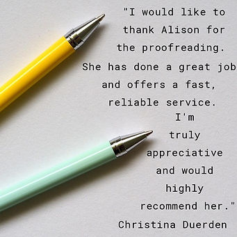 Proofreading review from a student