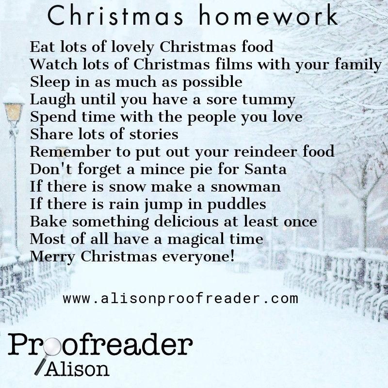 Christmas homework