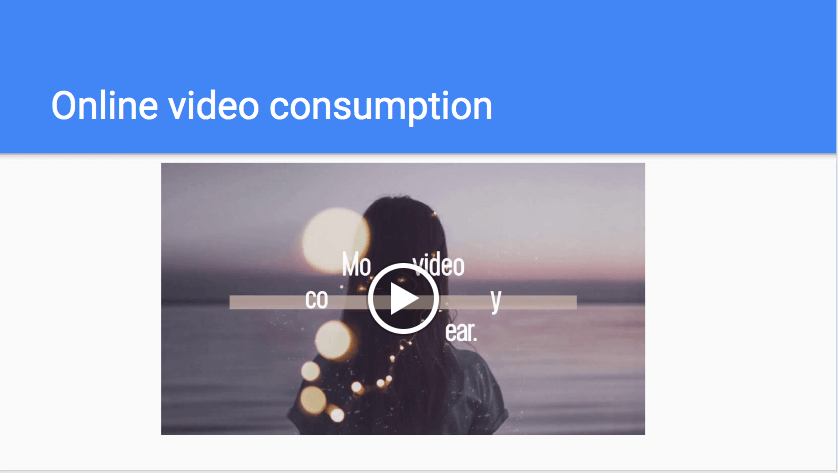 Online video consumption
