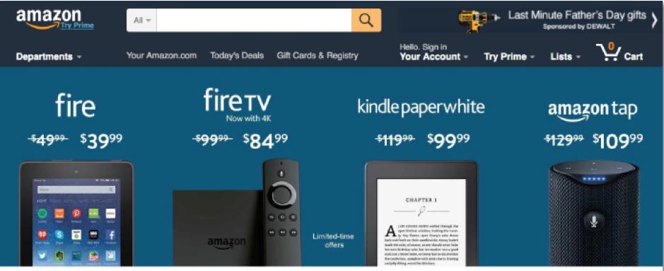 Amazon's marketing mix