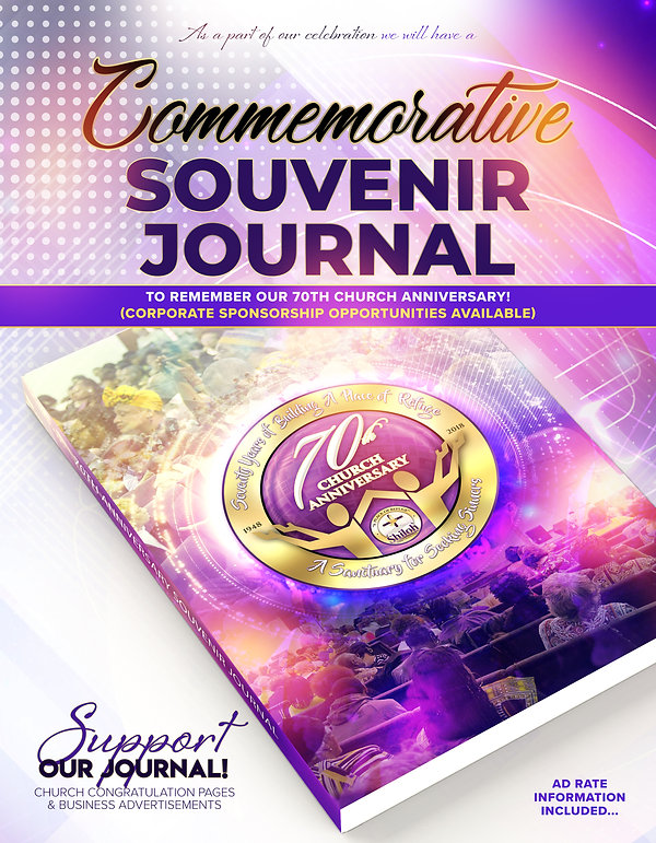 Church Anniversary Packet Souvenir Journ