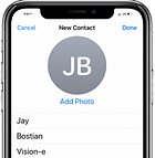 Visione Scan iPhone Visione Jay Contact