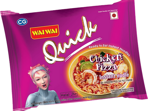 WAI WAI (QUICK) CHICKEN PIZZA 40's