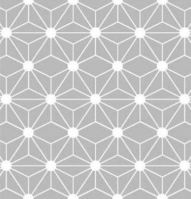 Coton imprimé géométrique gris 14€/m