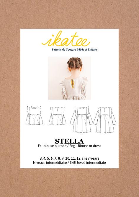Patron Ikatee STELLA Blouse/Robe Enfant Fille 3-12