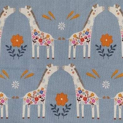 Dashwood velours milleraies imprimé girafe 19,90€/m