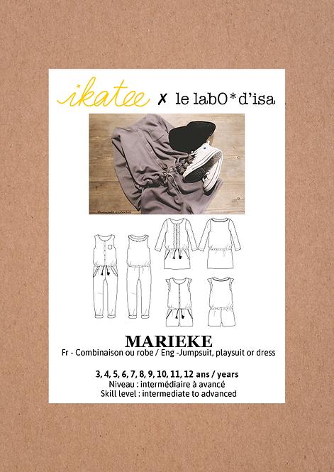 Patron Ikatee MARIEKE Trio blouse combinaison ou robe 3-12A