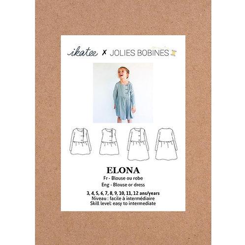 Patron Ikatee ELONA Blouse/Robe 3-12A