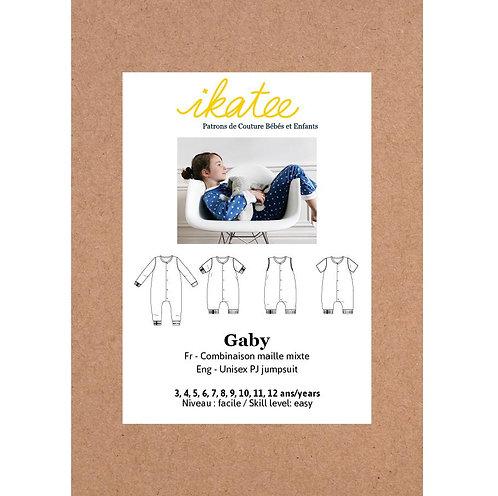 Patron Ikatee GABY Combi pyjama mixte 3-12A