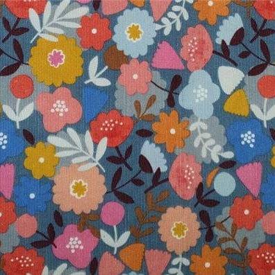 Dashwood velours milleraies imprimé fleurs 19,90€/m