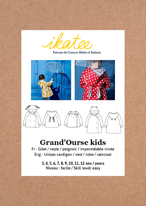 Patron Ikatee GRAND'OURSE Kids Gilet 3-12A