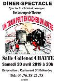 affiche diner-spectacle Chatte 2019- R.j
