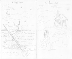 sketches, empty moon and inner mask