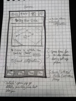 Wireframing, the Map feature