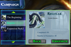 Campaign Screen, 1st Iteration