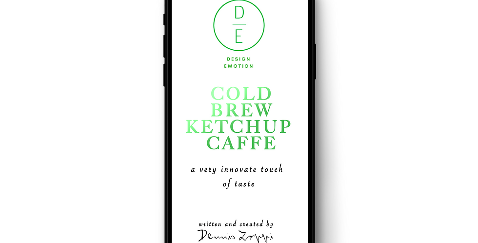 Ketchup Cold Brew caffe