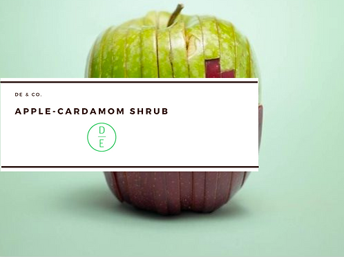 Apple-Cardamom Shrubs Recipe