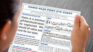 Hanks Near Eye Chart