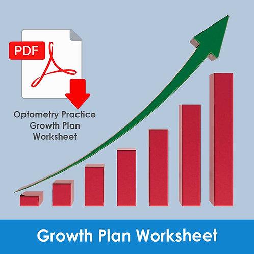 Monograph 1 - Optometry Growth Plan Worksheet