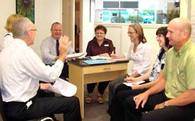 Optometry staff meeting