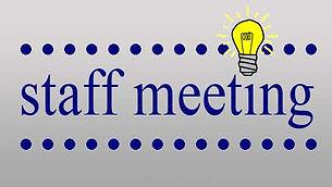 Staff Meetings
