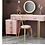 Thumbnail: Pink Celebrity Style dressing table (Marble table top)