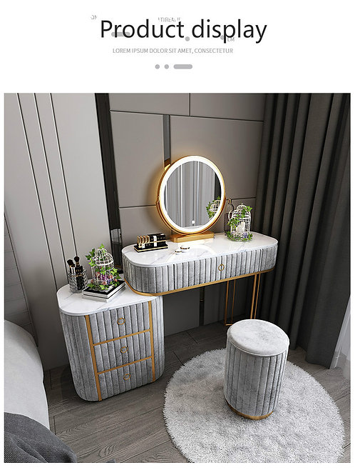 LED Dressing table(120cm with Round stool )