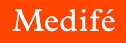 logos medife solo fondo naranja