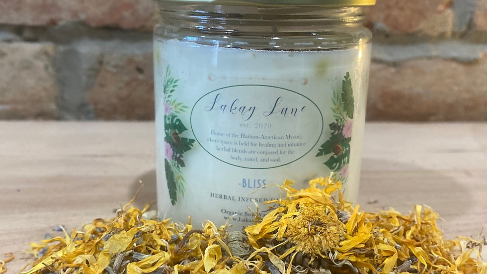 Bliss Herbal Infused Candle (Large)